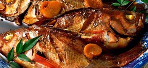 много рыбных блюд