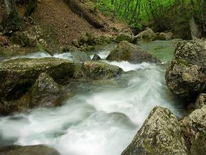 Бурлящая горная река