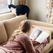 Девушка кот и книга