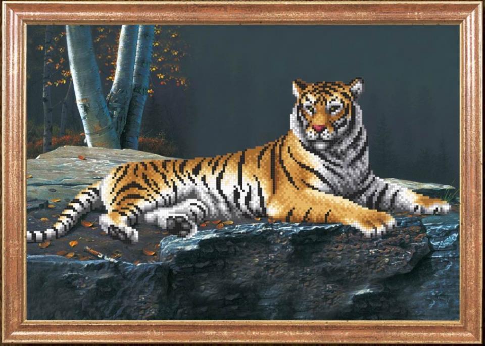 Картинка для вышивки тигр