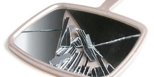 расколоть зеркальце