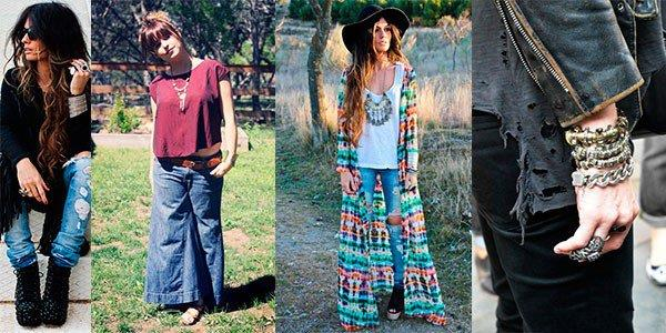 Один из стилей Бохо - бомж стайл: рваные джинсы, грубые рубахи
