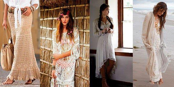 Эко девица - стиль Бохо, длинные белые сорочки гармонично сочетающиеся с аксессуарами