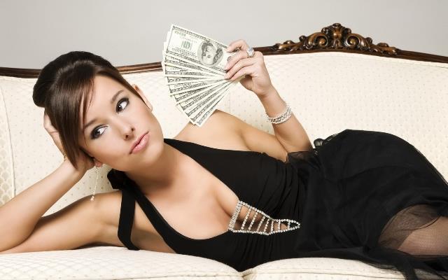 Богатая девушка