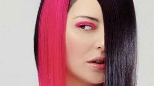 крашеные волосы в разный цвет