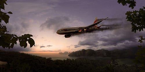 падение самолета с большой высоты