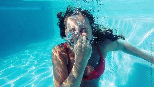 глубоко нырять по воду