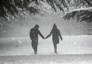 Гулять в снегопад