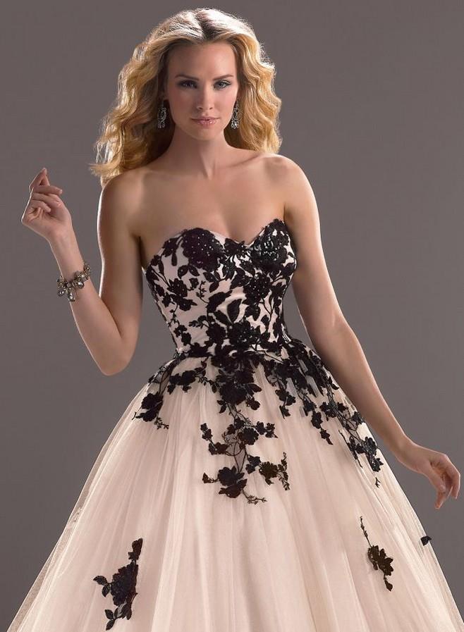 приснилось свадебное платье с черным