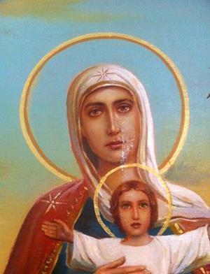 Слёзы у иконы Богоматери