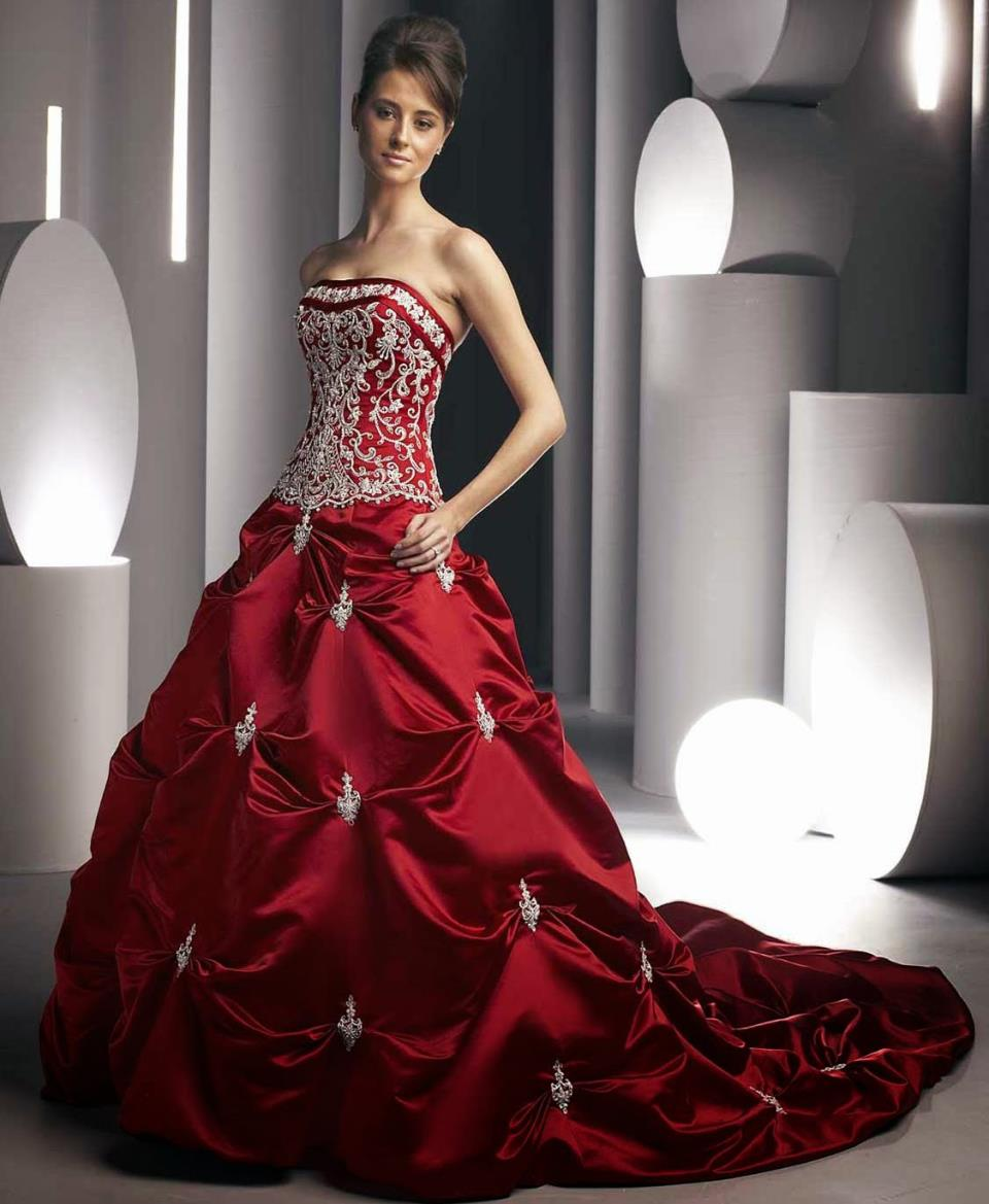 снится красное свадебное платье