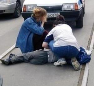 Попал под машину