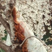 девушка у дерева