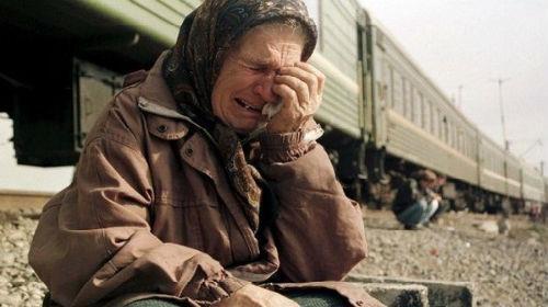 покойная мама плачет