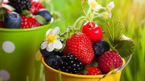 много ягод разных