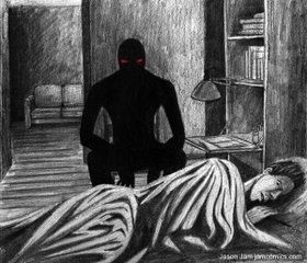 Сниться черный силуэт фото