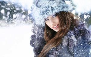 Девушка на морозе