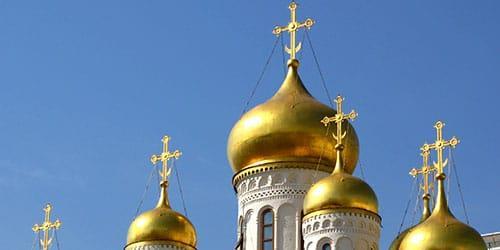 кресты на куполах