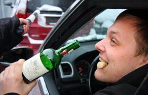 Подвыпивший за рулем