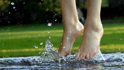 босиком по воде