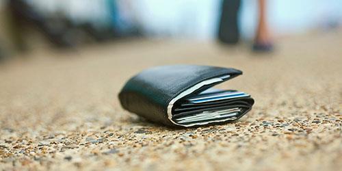 найти бумажник