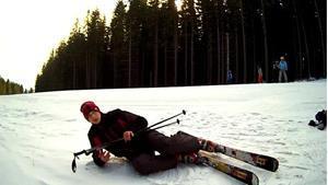 Падать на лыжах