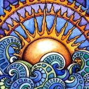 Солнце витраж
