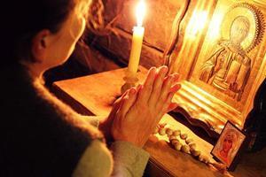 Свеча перед иконой