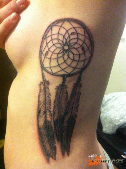 женская татуировка Ловец снов