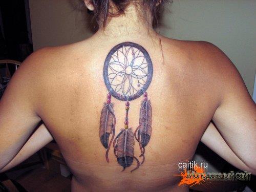 татуировка Ловец снов на спине