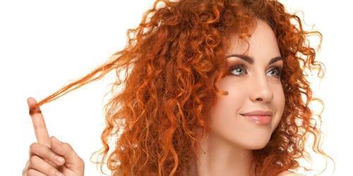 крашеные волосы в рыжий цвет