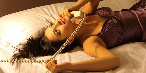 разговор по телефону с мужчиной