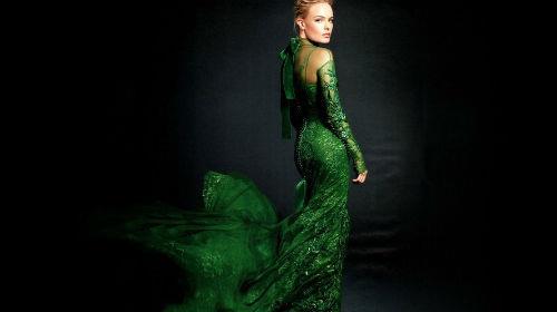 красивое зеленное платье