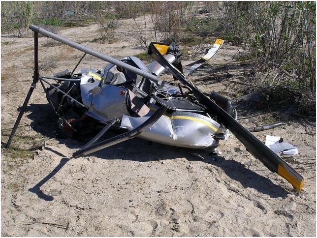 Разбившийся летательный аппарат