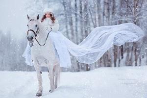Девочка на белом коне