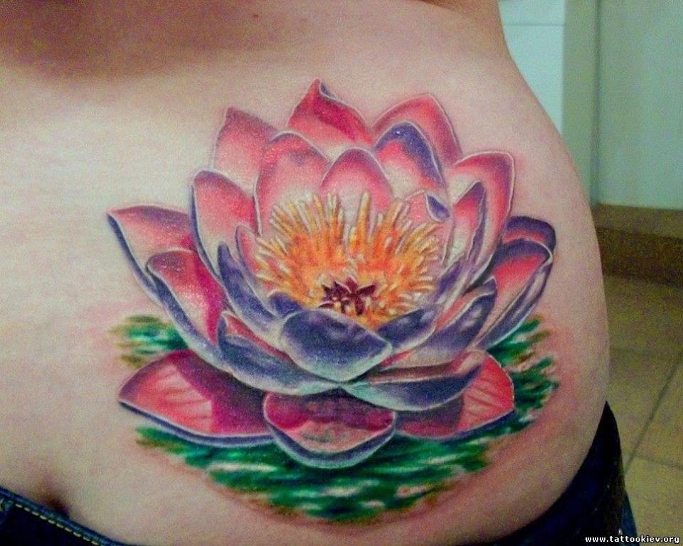 Лотос цветок татуировка
