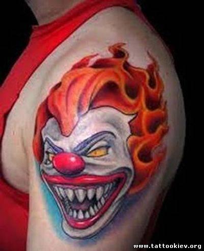 Клоун татуировка, шут, тату джокер