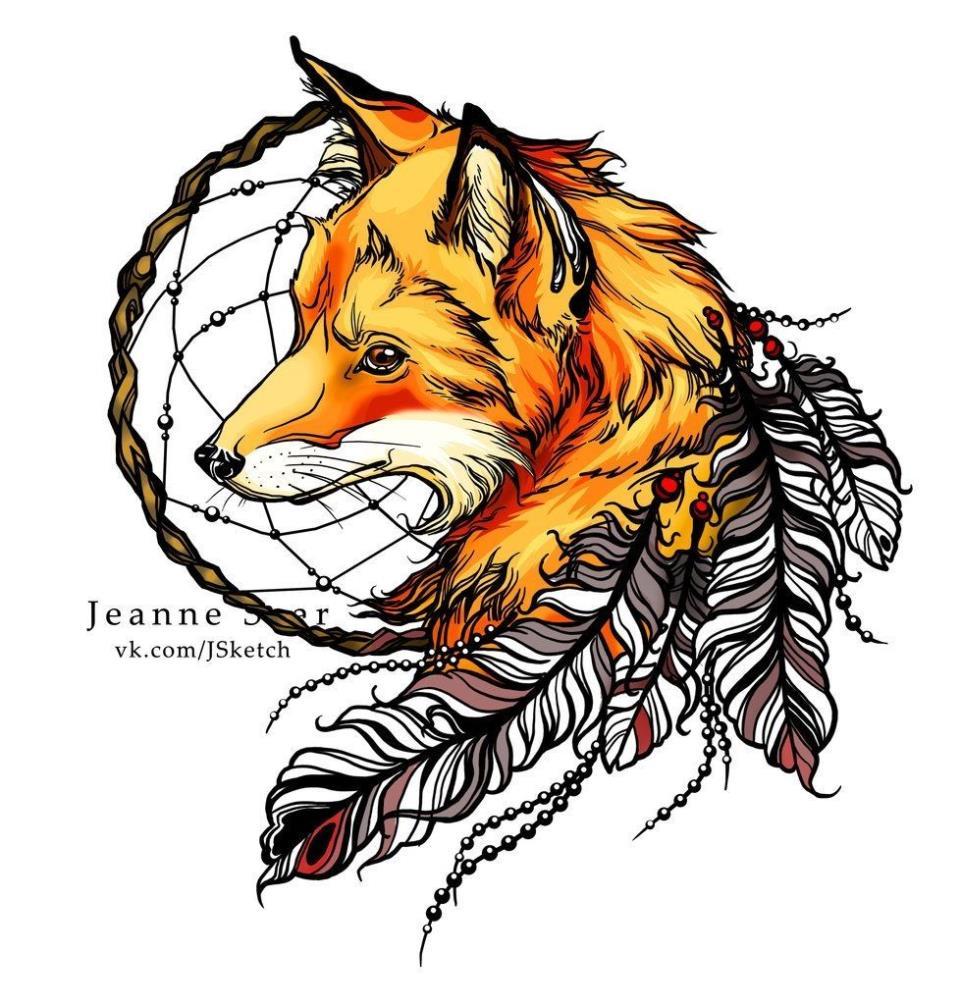 Тату лисы с ловцом снов значение тату