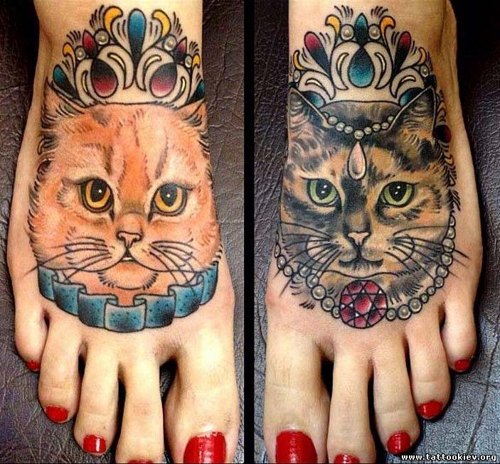 Коты и кошки, татуировки кошек, тату кошачьих